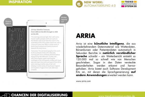 Arria - Journalismus von künstlicher Intelligenz