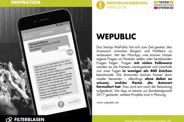 WePublic - Austausch zwischen Politik & Bürgern